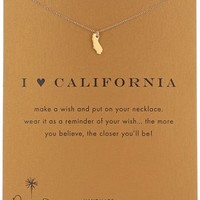 "Dogeared ""Reminders"" I Love California State Gold Necklace, 16"""