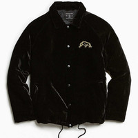 UO Velvet Embroidered Coach Jacket - Urban Outfitters