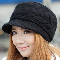 2016 Winter Women Hat Luxury Knitted Hats Female Soft High Elastic Warm Caps Beanies Headgear Girl Cap Solid Color NQ862352