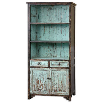 Uttermost Dunixi Distressed Bookcase - 24414
