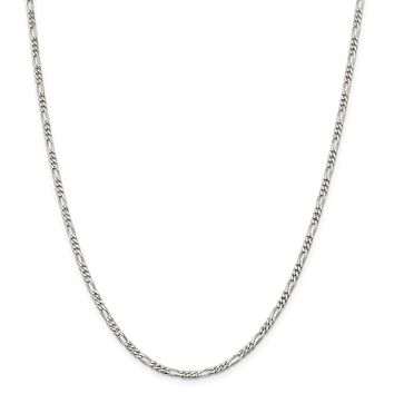 Sterling Silver 3mm Figaro Chain Necklace