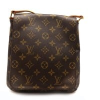 Auth Louis Vuitton Monogram Musette Salsa Long Shoulder Bag M51387