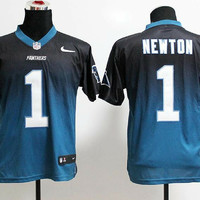 Cam Newton #1 Carolina Panthers Nike Fashion Drift 2 Limited Blue Black Jersey