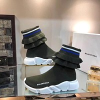Balenciaga Speed Stretch-knit High-top Sneakers #300