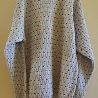 Dotted Sweater Oversized 90's Vintage Large