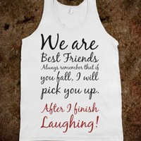 WE ARE BEST FRIENDS TANK TOP TEE T SHIRT