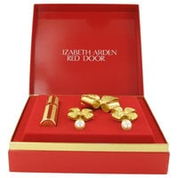 Red Door By Elizabeth Arden Gold Travel Mini Edp Spray + Free Earrings And Free Brooch In Gift Box .25 Oz