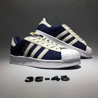 """""""Adidas Superstar"""" Unisex Casual Fashion Denim Canvas Couple Shell Head Plate Shoes Sneakers"""