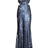 Jay Godfrey Navy Stanfield Gown