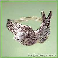 Antiqued Silver Sparrow Ring