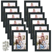 5x7 Picture Frame for Wall Decor or Tabletop, Black, 12 Pack