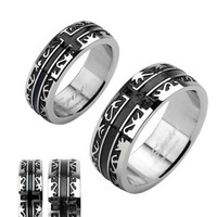 Oracle - FINAL SALE Mesmerizingly Deep Black Band High Polished Stainless Steel Ring