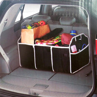 Collapsible Black Car Trunk Organizer Toys Food Storage Truck Cargo Container Bags Box Car Stowing Styling Auto Accessories