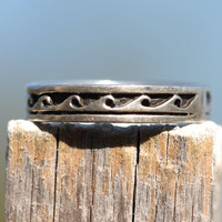 Stacking Boho Ring Sterling Silver Oceans Waves