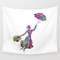Mary Poppins Wall Tapestry by Bitter Moon