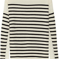 Vince Striped cashmere sweater – 40% at THE OUTNET.COM