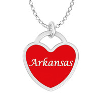 Arkansas Heart Necklace in Solid Sterling Silver