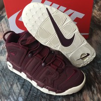 Nike Air More Uptempo '96 QS Bordeaux Night Maroon/Sail 921949-600 Men's Basketball Shoes