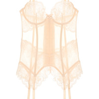L'Agent by Agent Provocateur - Mirabel tulle and lace basque