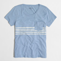 FACTORY PLACED-STRIPE POCKET TEE