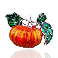 1PC Colorful Enamel Pumpkin Unisex Brooch Halloween Xmas Christmas Cute Jewelry Brooches Decor Cloth Hat Bag Crafts 2018 New