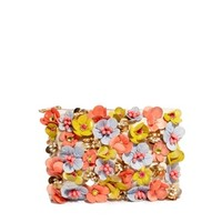 ASOS Clutch Bag With Neon Flower Embellishment