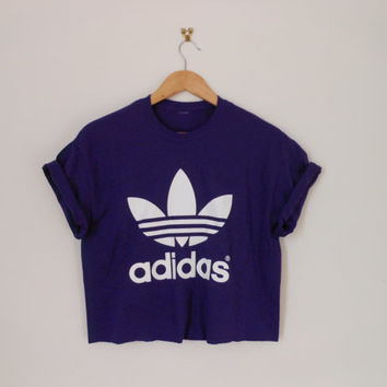 classic purple swag style classic adidas crop top tshirt fresh boss dope celebrity festival clothing