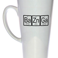 Bazinga Periodic Table Coffee or Tea mug, Latte Size