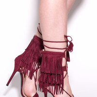 Perfect Timing Fringed Heels