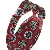 Medallion Print Satin Headwrap