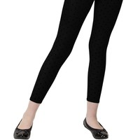 Girls Fleece Footless Tights