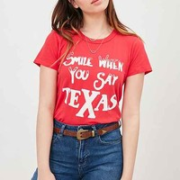Junk Food Smile For Texas Tee
