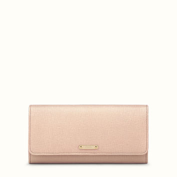 FENDI   CRAYONS WALLET continental in powder pink leather
