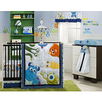 Monsters Inc. 4-Piece Crib Bedding Set