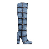 PATCHWORK KNEE HIGH BOOT