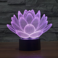 LED Illusion 3D Multi-color Colorful Lights = 5826346433