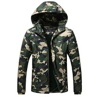 Nike men coat down cotton-padded jacket Cotton thickening hooded movement