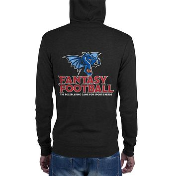 Fantasy Football Lightweight Summer Tri-Blend Unisex zip hoodie