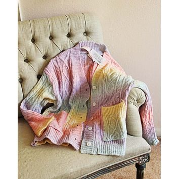 Cotton Candy Fisherman's Sweater