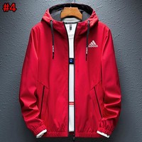 ADIDAS new men's fashion casual hooded cardigan jacket #4
