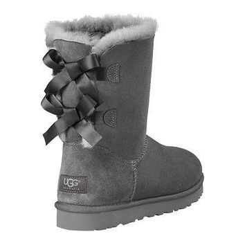 UGG:: bow leather boots boots in tube mieniwe?