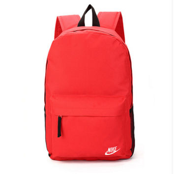 """""""Nike"""" Sport Hiking Backpack College School Travel Bag Day pack Red"""