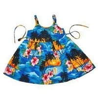 skyburst hawaiian girl sundress