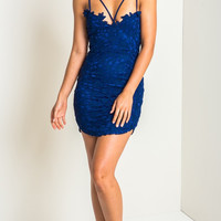 Hollow Out Crochet Lace Bodycon Dress