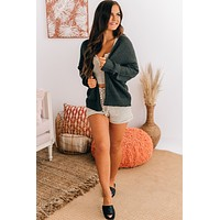 My Plus One Open Front Cardigan (Charcoal)