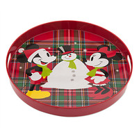 Mickey and Minnie Mouse Holiday Tray | Disney Store