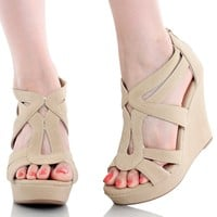 Top Moda Womens Lindy-88 Platform Sandals