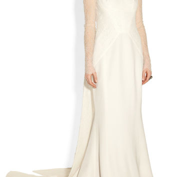 Antonio Berardi | Silk-blend crepe and lace gown | NET-A-PORTER.COM