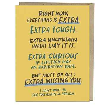 Extra Missing You Card