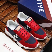 BALLY Men's Leather Fashion Low Top Sneakers Shoes
